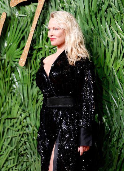 Pamela Anderson at the Fashion Awards, London.