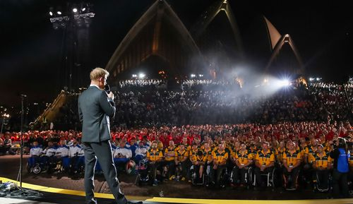 The wild weather delayed the start of the INvictus Games opening ceremony by just over an hour.