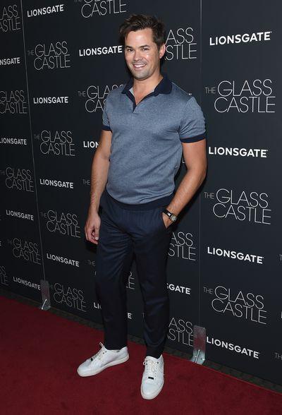 Andrew Rannellsat the premier of<em>The Glass Castle</em>.