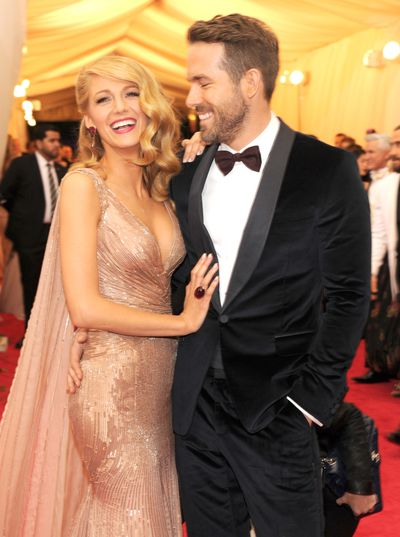 Blake Lively and Ryan Reynolds at <em>Charles James: Beyond Fashion </em>Costume Institute Gala at the Metropolitan Museum of Art on May 5, 2014 in New York City.