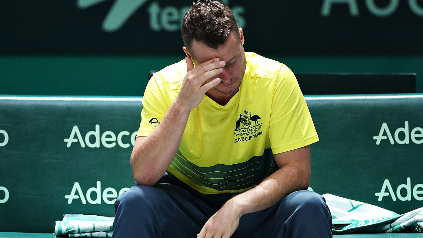 Lleyton Hewitt reveals collarbone injury to blame for Kyrgios call at the Davis Cup