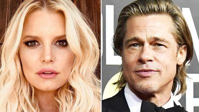 Jessica Simpson and Brad Pitt