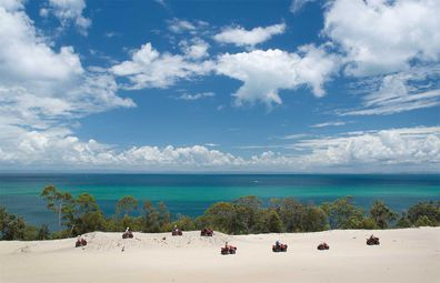 Tangalooma quad bike tour views
