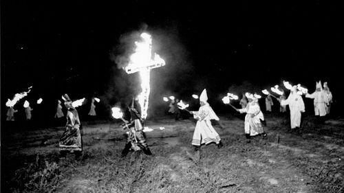 A Ku Klux Klan rally in South Carolina in 1963. (AAP)