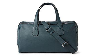 "<a _tmplitem=""20"" href=""http://www.mrporter.com/mens/valextra/cabina-pebbled-leather-holdall/515106""> Cabina Pebbled leather Holdall, $4,281, Valextra</a>"