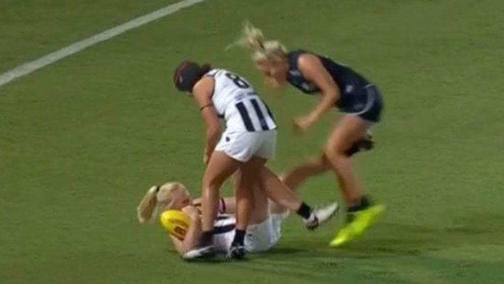 Collingwood forward Sarah D'Arcy gets AFLW ban for kicking