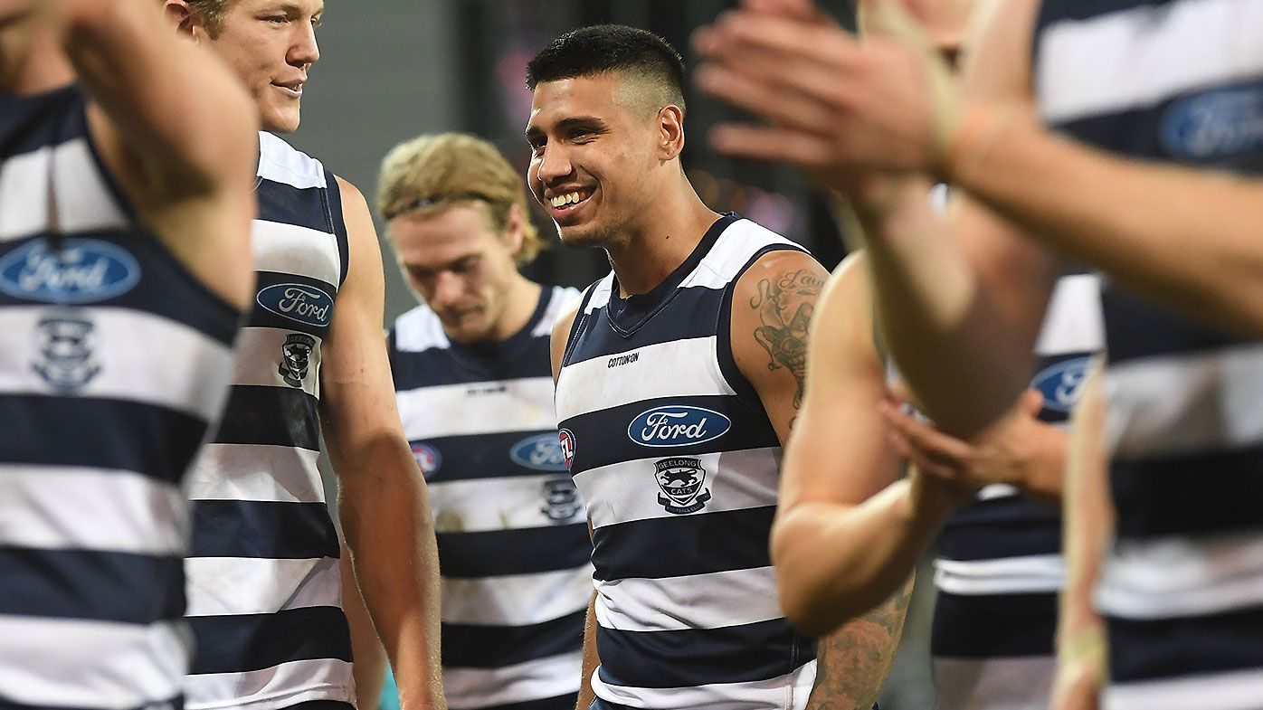 Geelong legend Jimmy Bartel reacts to Tim Kelly's latest comments on playing future