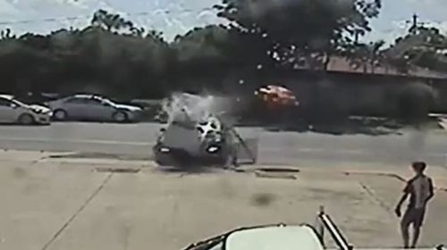 CCTV footage minutes before the fatal crash showed Pavey-Rees smashing into a phone booth.