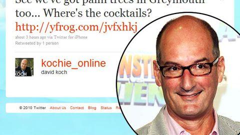 Oops: David Koch's Twitter gaffe at NZ mining disaster