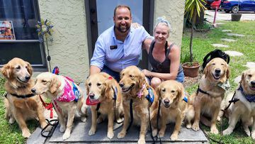 A total of 12 dogs and 20 volunteers from Lutheran Church Charities Comfort Dogs arrived in Orlando earlier today. (Facebook/Lutheran Church Charities Comfort Dogs)