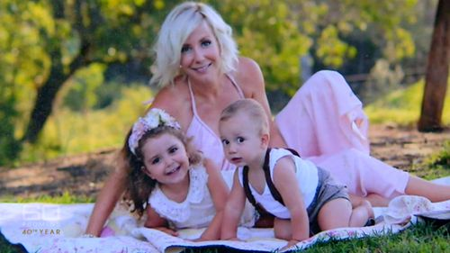 Ms Faulkner with her children.