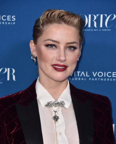 Amber Heard attends PORTER's Third Annual Incredible Women Gala at The Ebell of Los Angeles on October 9, 2018 in Los Angeles, California