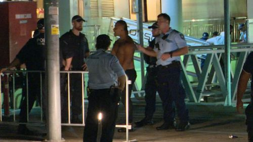 Police were forced to board a birthday cruise ship that was at a wharf in Darling Harbour on February 24 to separate feuding groups (9NEWS).
