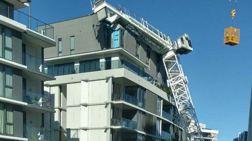 The crane toppled into the Wolli Creek building on August 6, but residents are still suffering. (9NEWS)