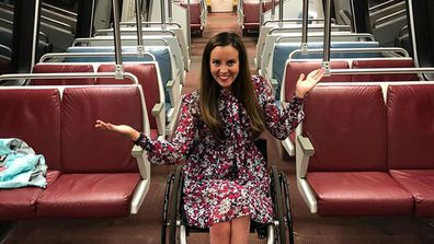 Kelley Simoneaux has been wheelchair bound since she was 16 after a car accident left her paralysed from the waist down (Facebook)