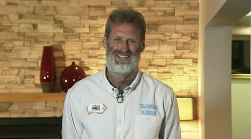 Scott Donaldson has successfully kayaked from Coffs Harbour to New Zealand. Picture: 9NEWS