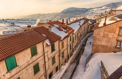 Capracotta, Molise. Italian ski town