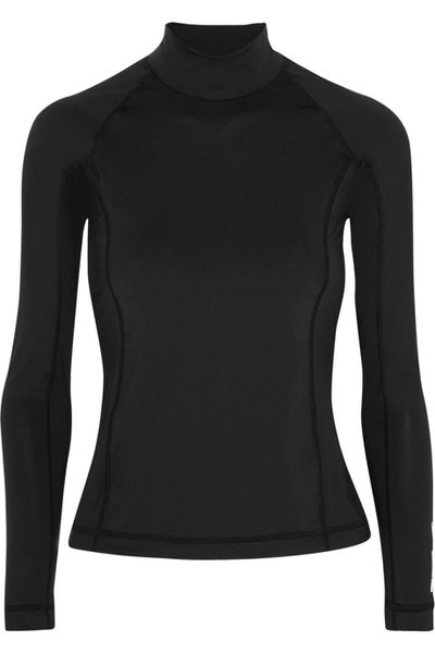"<a href=""https://www.net-a-porter.com/au/en/product/640972/t_by_alexander_wang/stretch-jersey-rash-guard"" target=""_blank"">T by Alexander Wang top, $327, at Net-a-Porter.com</a>"