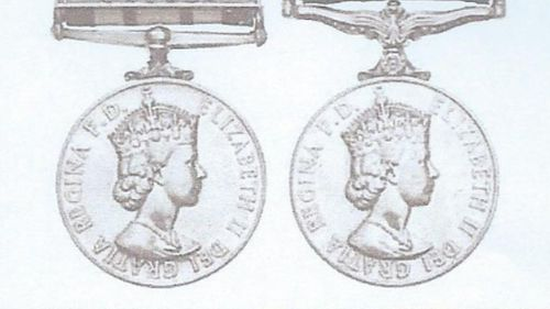 Alan last wore his prized medals in July 1964. (Supplied)