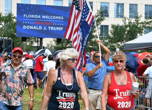 Thousands turned out for the official campaign for re-election kickoff by President Donald Trump at the Amway Centre in Orlando.