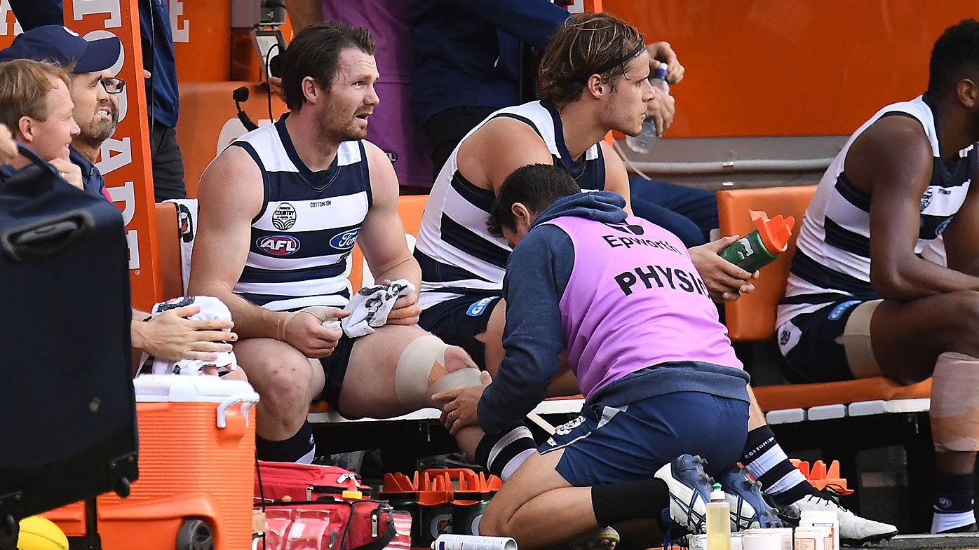 Port Adelaide great Kane Cornes accuses Patrick Dangerfield of 'playing up' injuries