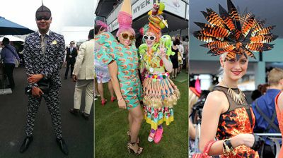 Nobody is trying to go unnoticed this Melbourne Cup Day. (AAP)