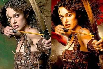 Keira Knightley's gained a bra size on the <i>King Arthur</i> movie poster in 2004...and she was mortified!
