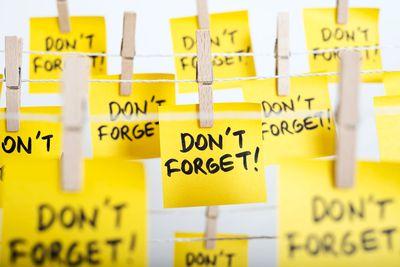 Your memory worsens