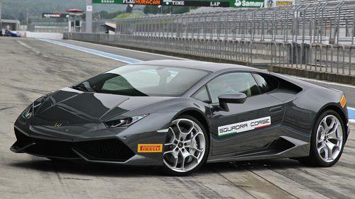 A man has been caught doing 170km/h in a grey Lamborghini LP610-4 Huracan (file photo).