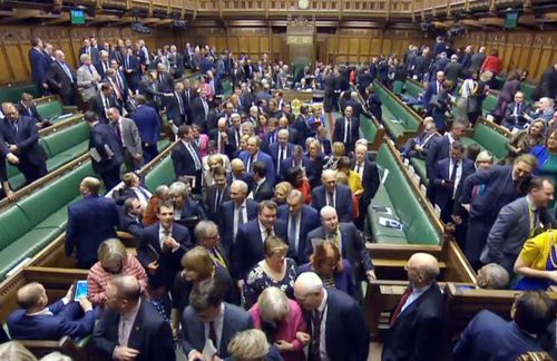 MPs vote on the EU withdrawal deal during a dramatic night in parliament.