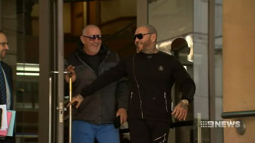 Mitchell's lawyer Theo Magazis said his client had acted in self-defence. Picture: 9NEWS