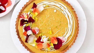 Lemon, lime and bitters tart