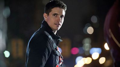 Robbie Amell as Firestorm on CW's hit superhero series The Flash