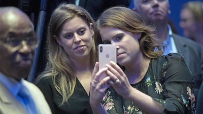Princesses Beatrice and Eugenie snap pics at UN event