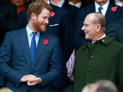 Prince Harry and Prince Philip in 2015.