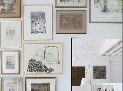 A feature frame wall