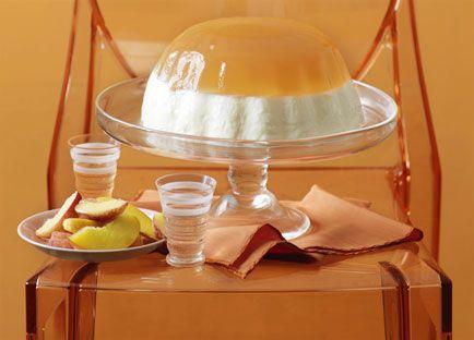Peach and yoghurt jelly