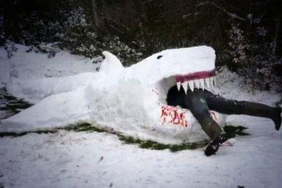 "Ian Ziering: ""Picture from this weekend's #Sharknado rehearsal... #spoileralert""<br/><br/>(Image: @IanZiering/Twitter)"