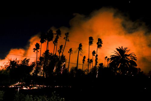 Southern California has been hit with a fresh spate of bushfires, destroying more homes and forcing evacuations.