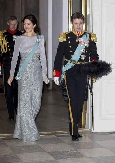Crown Princess Mary of Denmark and Crown Prince Frederik of Denmark attend a New Year's party held by Queen Margrethe of Denmark  at Christiansborg Palace on January 3, 2017 in Copenhagen, Denmark.