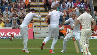 Stuart Broad celebrates another wicket