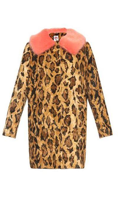 """<a href=""""http://www.matchesfashion.com/product/1010384""""> Papa Puss Leopard Print Faux Fur Coat, $712, Shrimps</a>"""