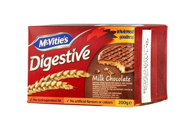 McVitie's Digestive Milk Chocolate: 4.9g sugar per biscuit