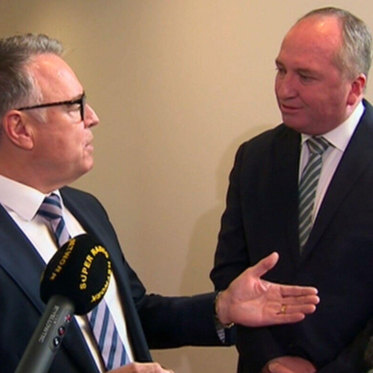 Joyce and Fitzgibbon's corridor clash over net-zero emissions