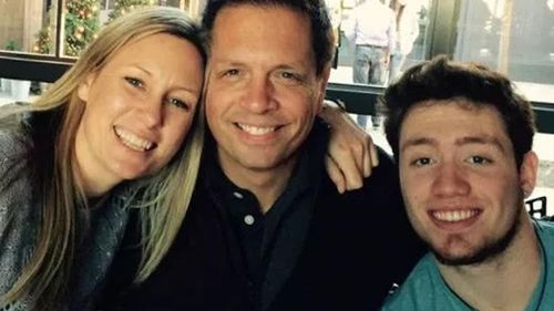 Justine Ruzczyk with her fiance Don Damond and his son. (Source: Facebook)