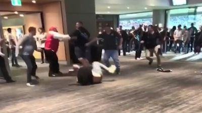 Wild brawl erupts post-match at Adelaide Oval