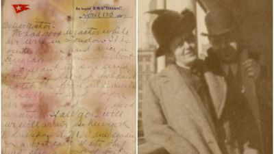 Letter written by first class Titanic passenger sells for $216,000