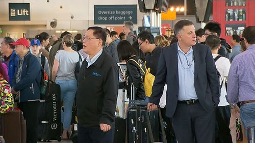 Sydney Airport passengers have experienced significant delays. (9NEWS)