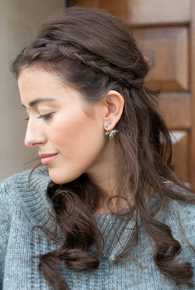 Use plaits to  make way for intricate earrings.