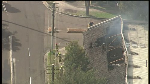 The building was extensively damaged. (9NEWS)